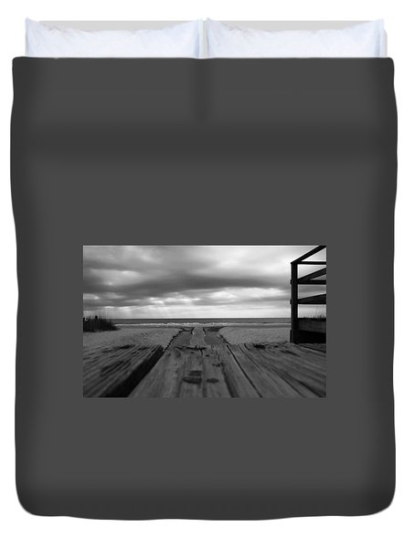 Grey Beach Duvet Cover