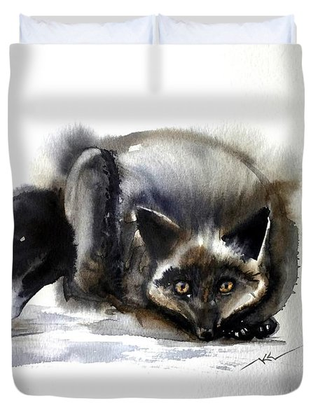 Grey Fox 1 Duvet Cover