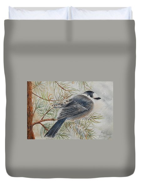 Grey Jay Duvet Cover