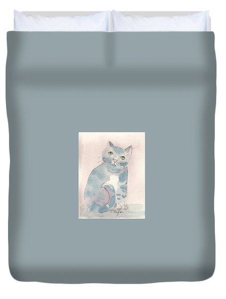 Grey Tabby Duvet Cover
