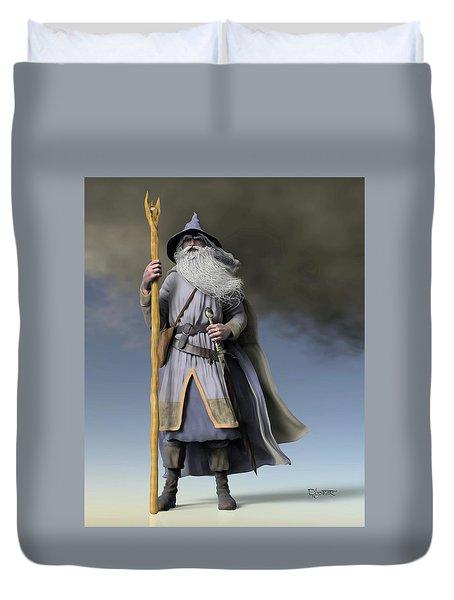 Grey Wizard Duvet Cover