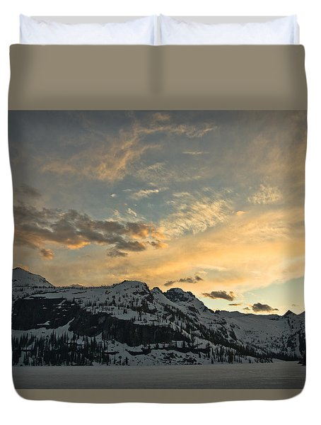 Grey Wolf Lake Duvet Cover