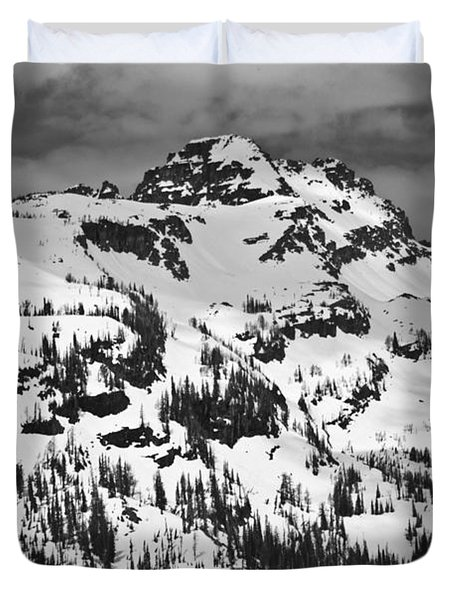 Grey Wolf Peak, Mission Mountains Duvet Cover