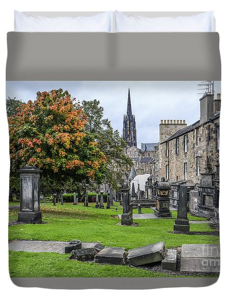 Greyfriars Kirkyard 1562  Duvet Cover by Amy Fearn