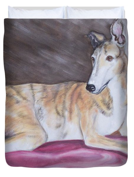 Greyhound Number 2 Duvet Cover by George Pedro