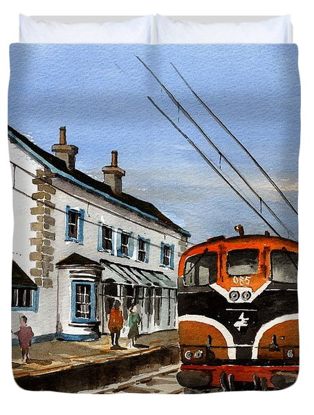 Greystones Railway Station Wicklow Duvet Cover