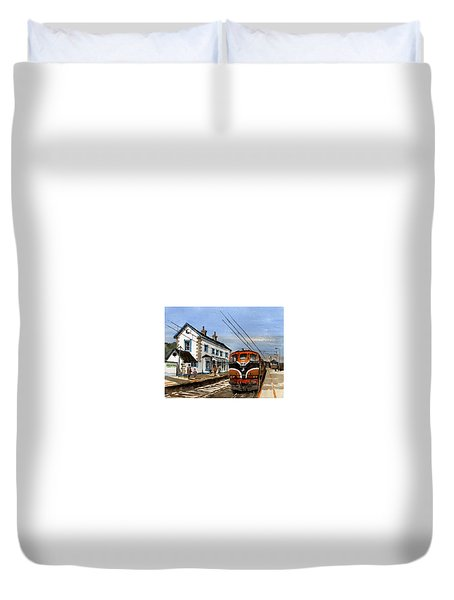 Greystones Railway Station Wicklow Duvet Cover