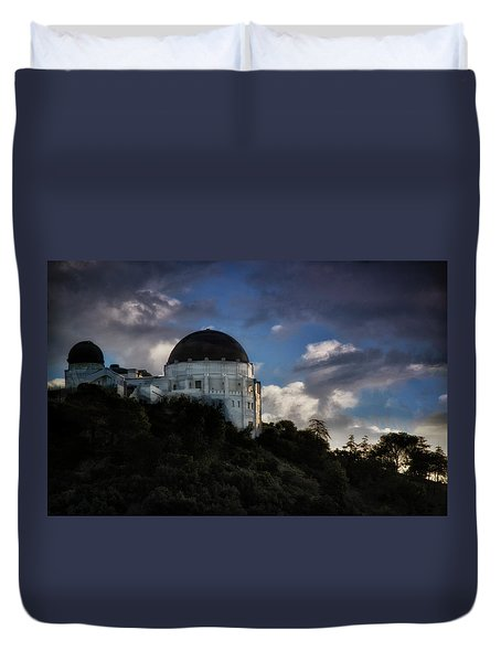 Griffith Observatory Duvet Cover by Joseph Hollingsworth