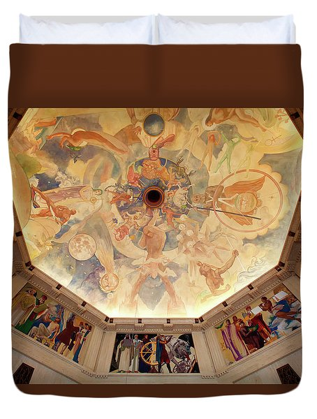 Duvet Cover featuring the photograph Griffith Observatory Rotunda Art by Ram Vasudev