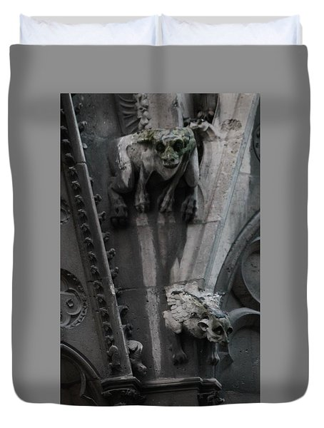 Griffons Duvet Cover by Christopher Kirby
