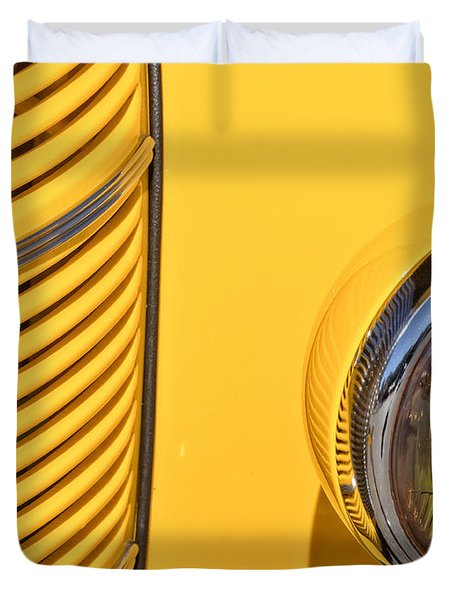 Grilled Chrome To Yellow Duvet Cover