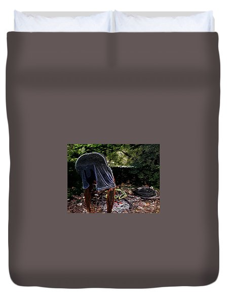 Grilling Out Duvet Cover