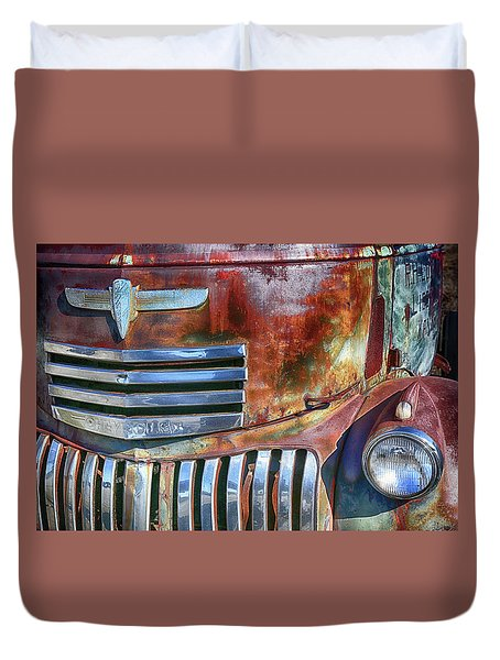 Grilling With Rust Duvet Cover