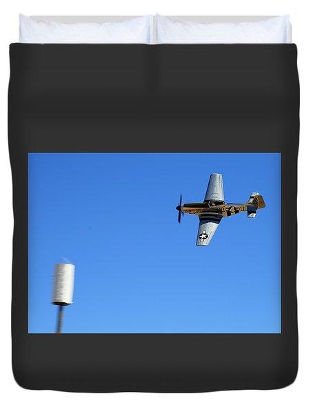 Grim Reaper.  P51d.  Not Just Your Father's Show Plane Duvet Cover