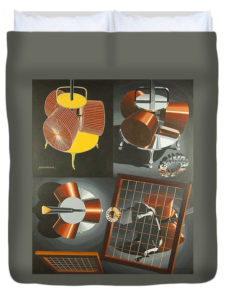 Duvet Cover featuring the painting Grinder No. 2 by Mark Howard Jones