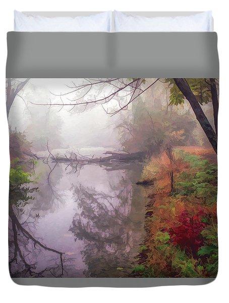 Grings Mill Fog 015 Duvet Cover by Scott McAllister