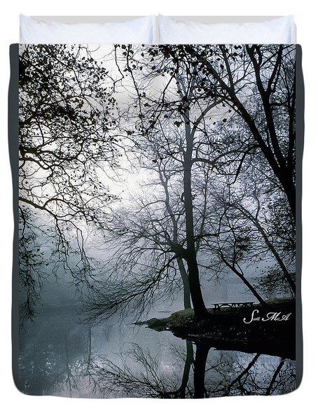 Grings Mill Fog 1043 Duvet Cover