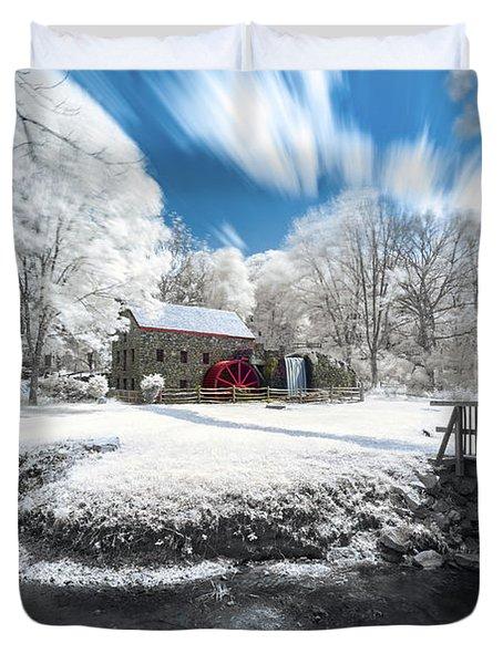 Grist Mill In Halespectrum Duvet Cover