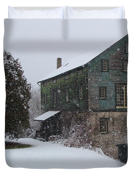 Grist Mill Of Port Hope Duvet Cover