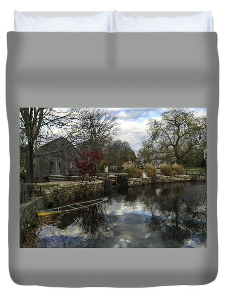 Grist Mill Sandwich Massachusetts Duvet Cover