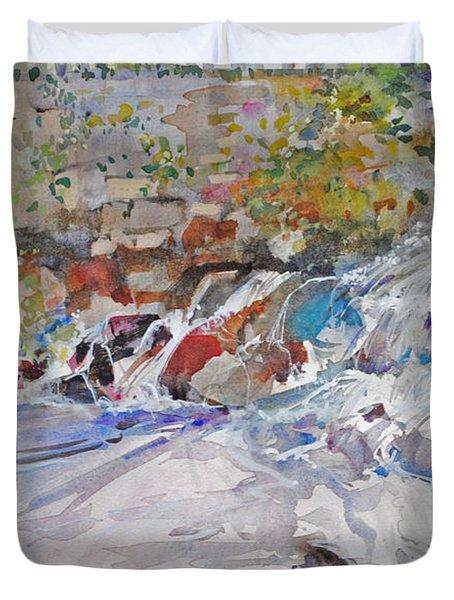 Grist Mill Spill Way Duvet Cover