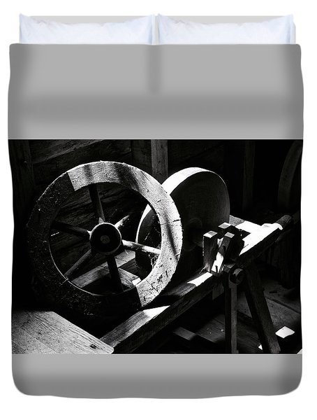Grist Mill Wheel Duvet Cover