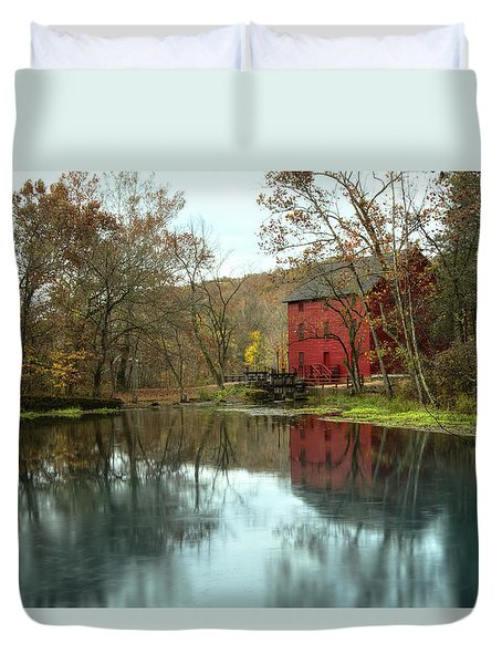 Grist Mill Wreflections Duvet Cover