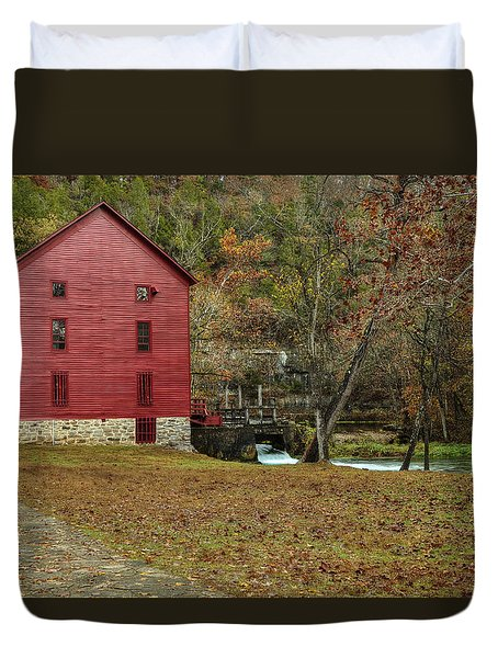 Grist Mill Wtrees II Duvet Cover