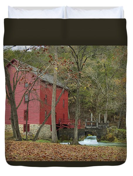 Grist Mill Wwaterfall Duvet Cover