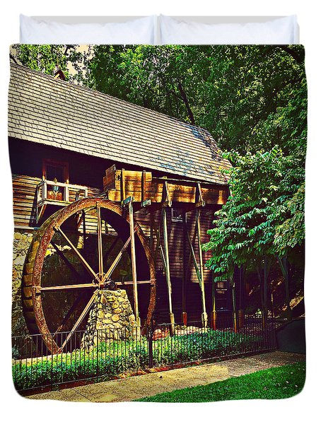 Gristmill - Charlottesville Virginia Duvet Cover by Judy Palkimas