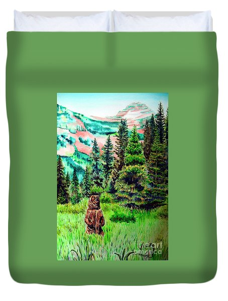 Grizzly Country Duvet Cover by Tracy Rose Moyers