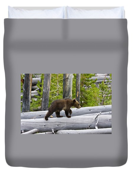 Grizzly Cub Duvet Cover