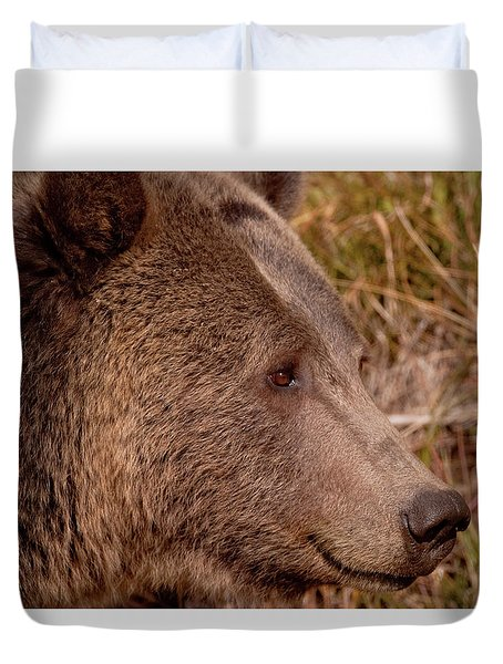 Grizzly Profile Duvet Cover