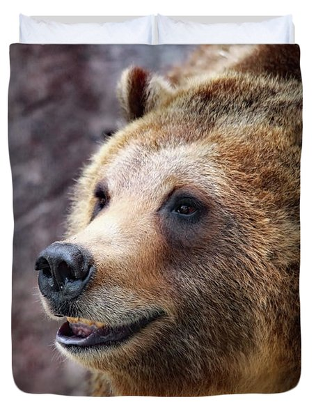 Grizzly Smile Duvet Cover