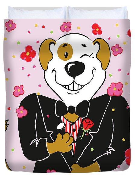 Groom Dog Duvet Cover