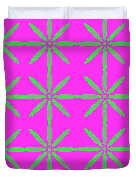 Groovy Flowers Duvet Cover