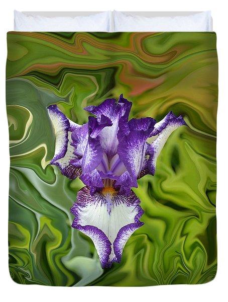 Groovy Purple Iris Duvet Cover