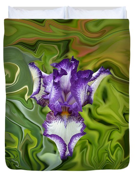Groovy Purple Iris Duvet Cover