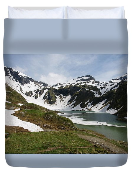 Duvet Cover featuring the photograph Grossglockner High Alpine Road by Christian Zesewitz