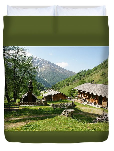 Duvet Cover featuring the photograph Grossglockner Road by Christian Zesewitz