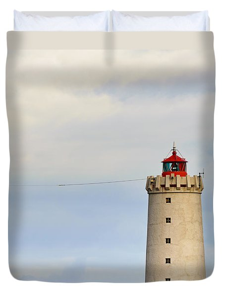 Grotta Lighthouse Iceland Duvet Cover
