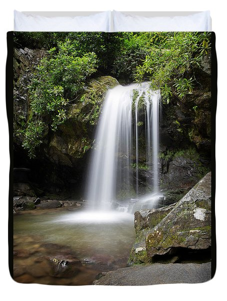 Grotto Falls Vertical Duvet Cover