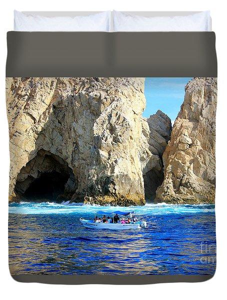 Grotto Of  Cabo San Lucas Mexico Duvet Cover