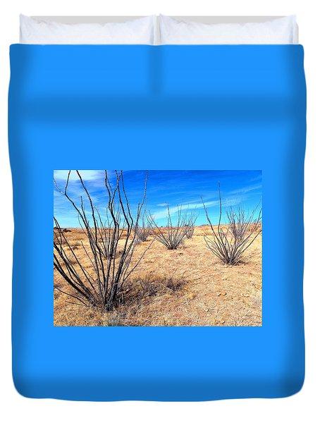 Ground Level - New Mexico Duvet Cover
