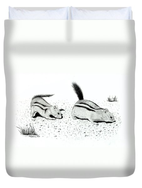 Ground Squirrels Duvet Cover