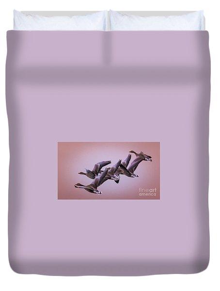 Group Flight  Duvet Cover by Franziskus Pfleghart