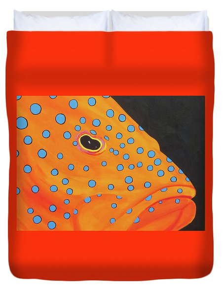 Grouper Head Duvet Cover