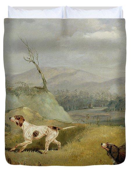 Grouse Shooting  Duvet Cover by Henry Thomas Alken