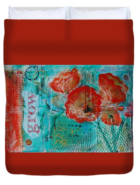 Duvet Cover featuring the painting Grow 8x12 by Jocelyn Friis