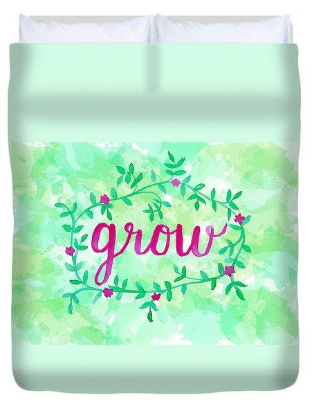Grow Watercolor Duvet Cover